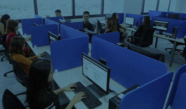 employees in an bpo office